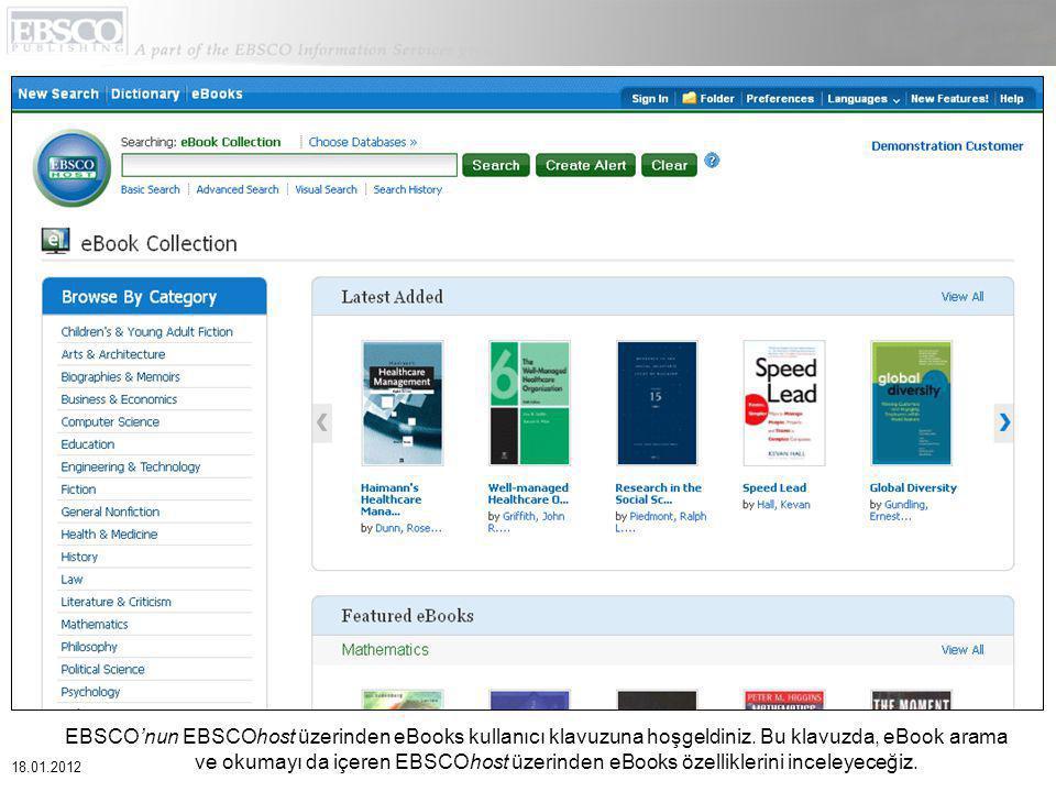 EBSCO'nun EBSCOhost üzerinden eBooks kullanıcı klavuzuna hoşgeldiniz.