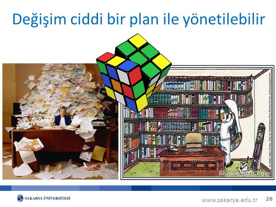 2/8 Değişim ciddi bir plan ile yönetilebilir www.sakarya.edu.tr
