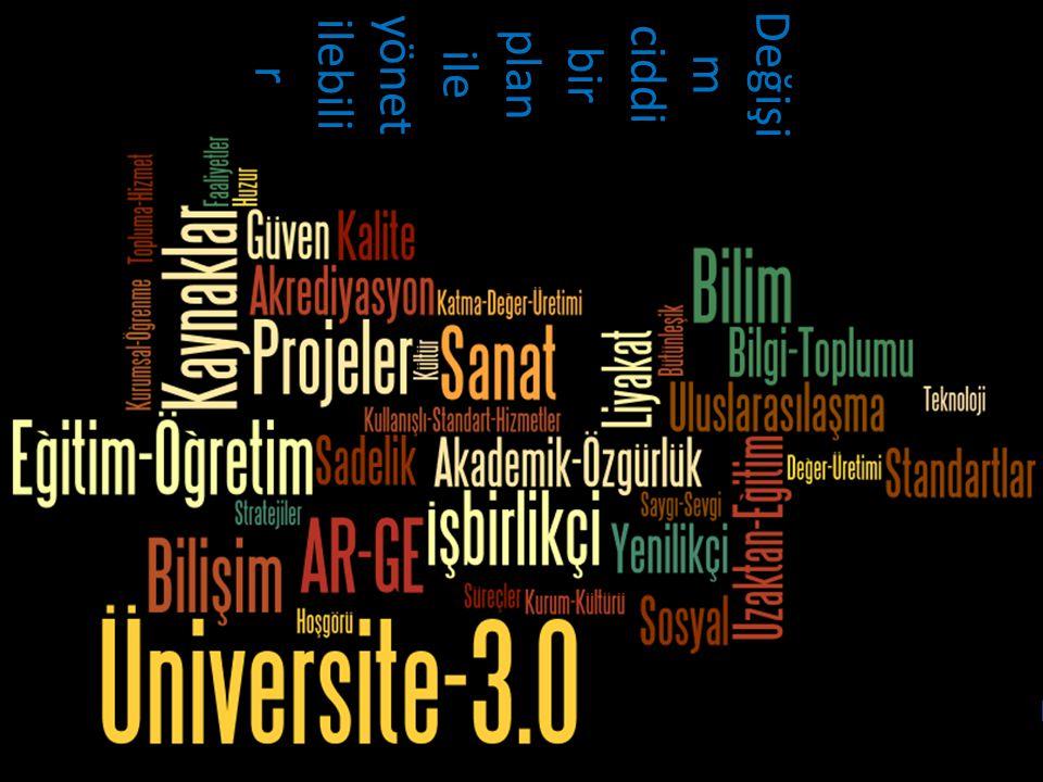 3/8 www.sakarya.edu.tr Değişi m ciddi bir plan ile yönet ilebili r