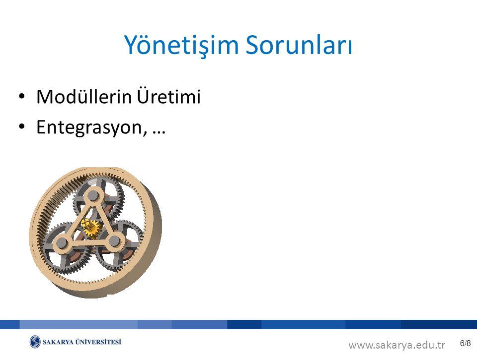 6/8 Yönetişim Sorunları www.sakarya.edu.tr Modüllerin Üretimi Entegrasyon, …