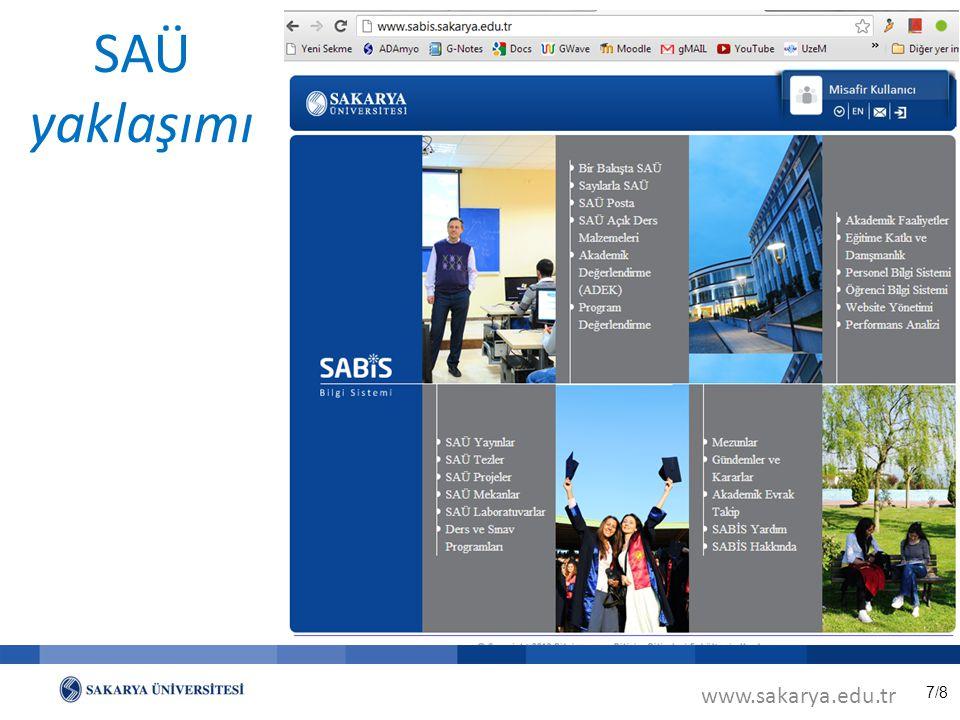 7/8 SAÜ yaklaşımı www.sakarya.edu.tr