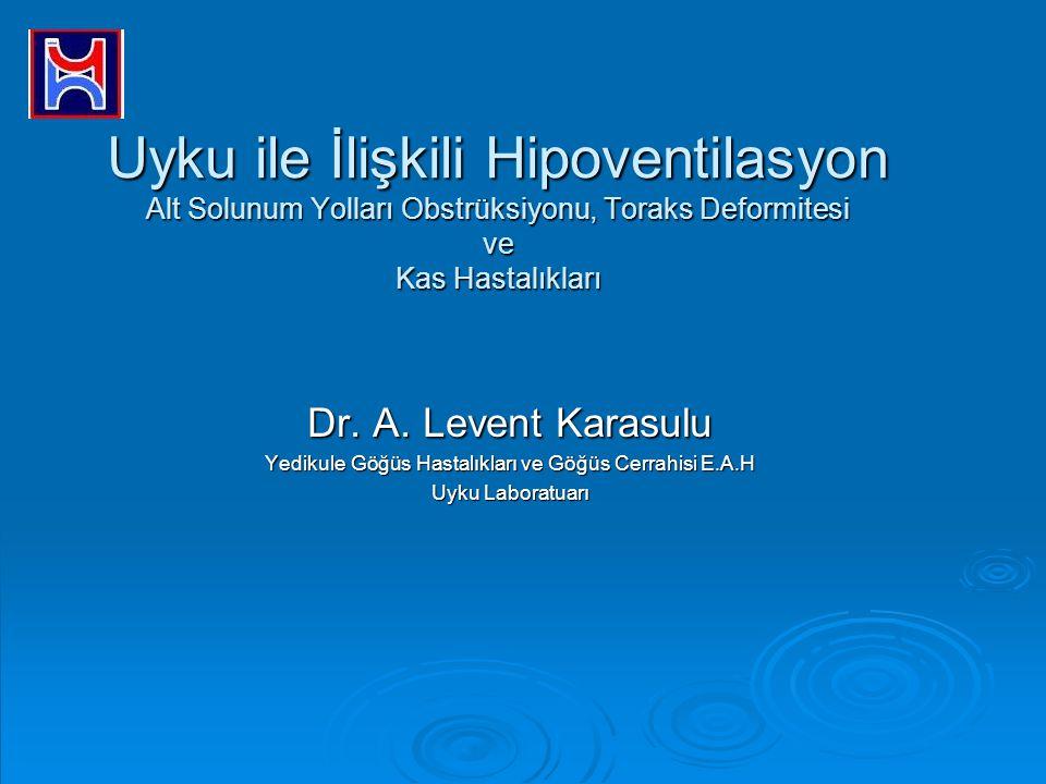 Uyku ile İlişkili Hipoventilasyon Alt Solunum Yolları Obstrüksiyonu, Toraks Deformitesi ve Kas Hastalıkları Dr. A. Levent Karasulu Yedikule Göğüs Hast
