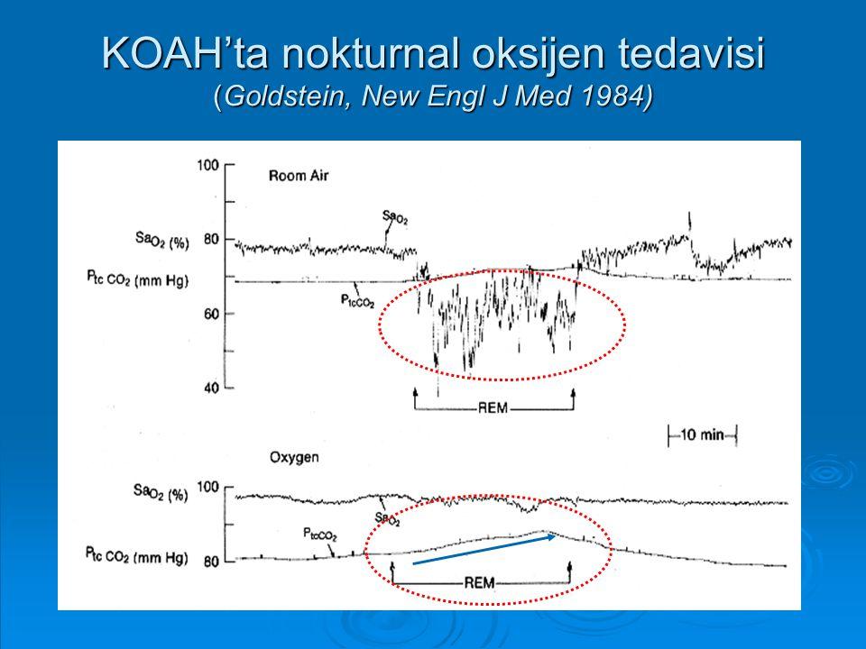 KOAH'ta nokturnal oksijen tedavisi (Goldstein, New Engl J Med 1984)