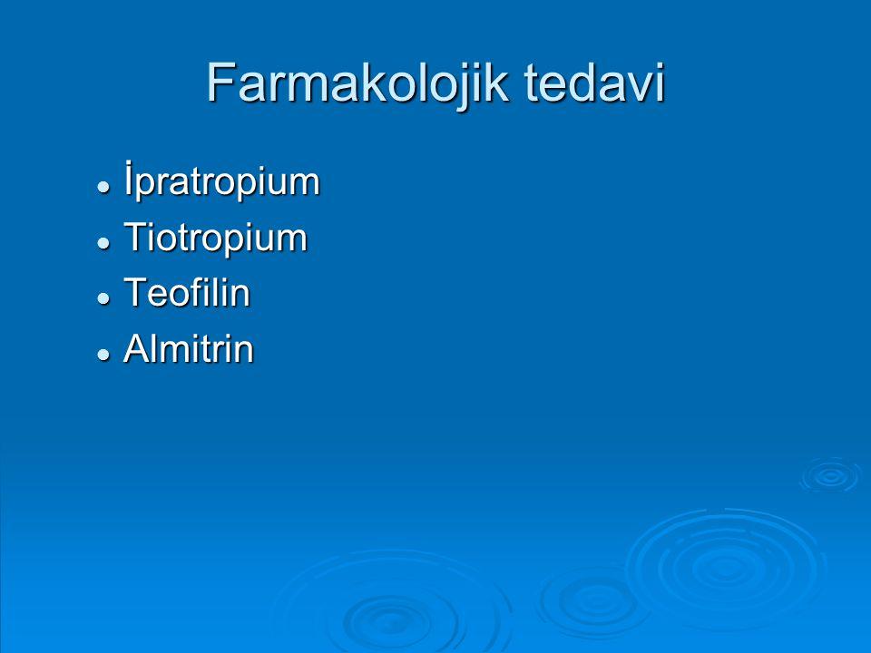 Farmakolojik tedavi İpratropium İpratropium Tiotropium Tiotropium Teofilin Teofilin Almitrin Almitrin