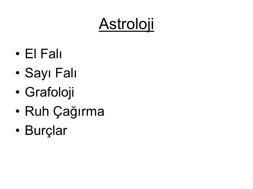 Astroloji El Falı Sayı Falı Grafoloji Ruh Çağırma Burçlar