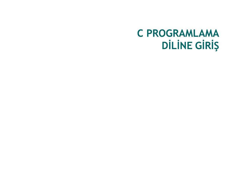 C PROGRAMLAMA DİLİNE GİRİŞ