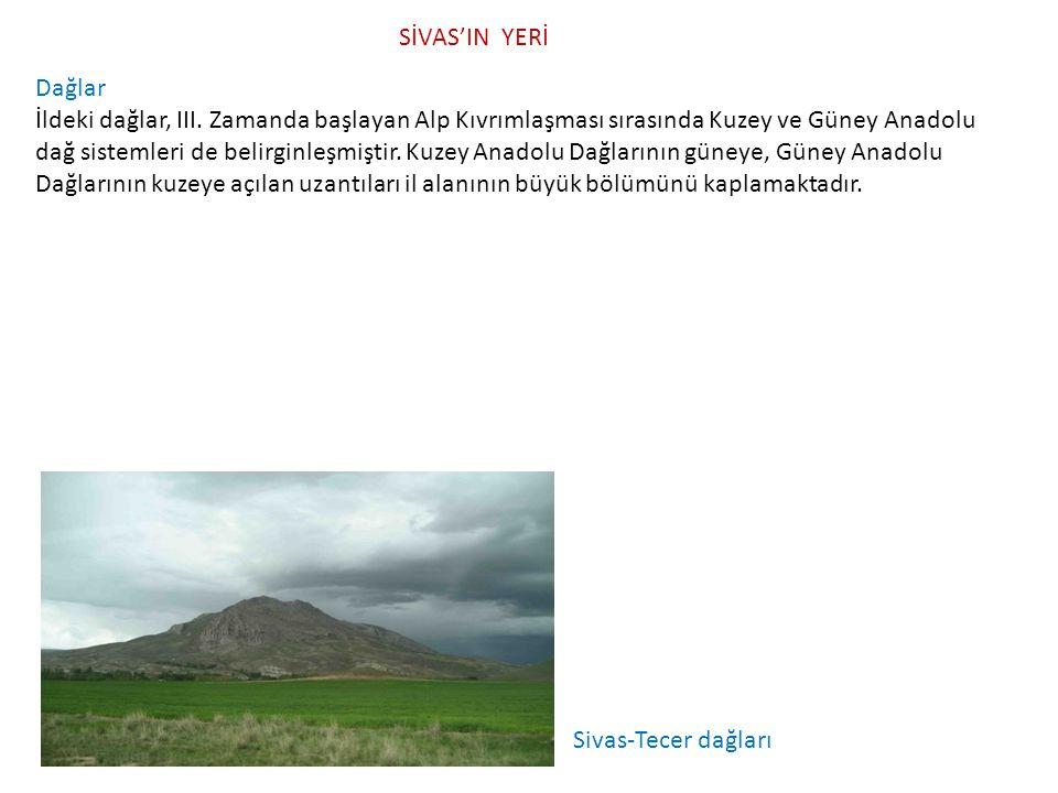Dağlar İldeki dağlar, III. Zamanda başlayan Alp Kıvrımlaşması sırasında Kuzey ve Güney Anadolu dağ sistemleri de belirginleşmiştir. Kuzey Anadolu Dağl