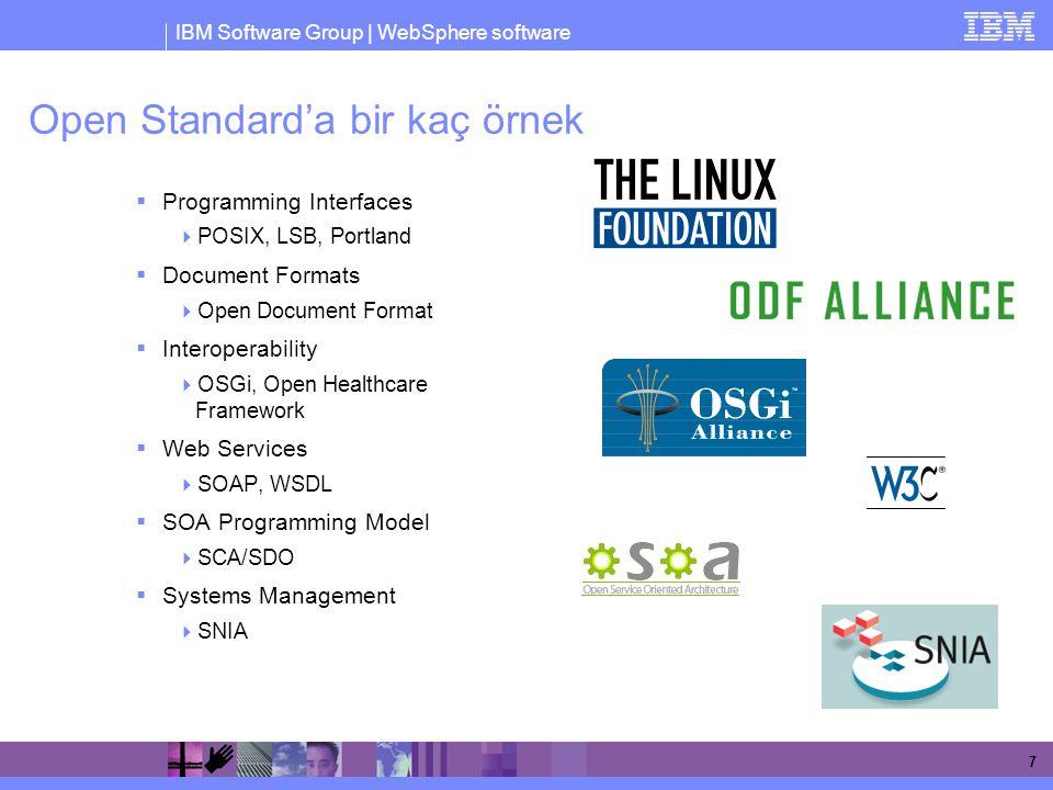 IBM Software Group | WebSphere software 8 Open Source nedir.
