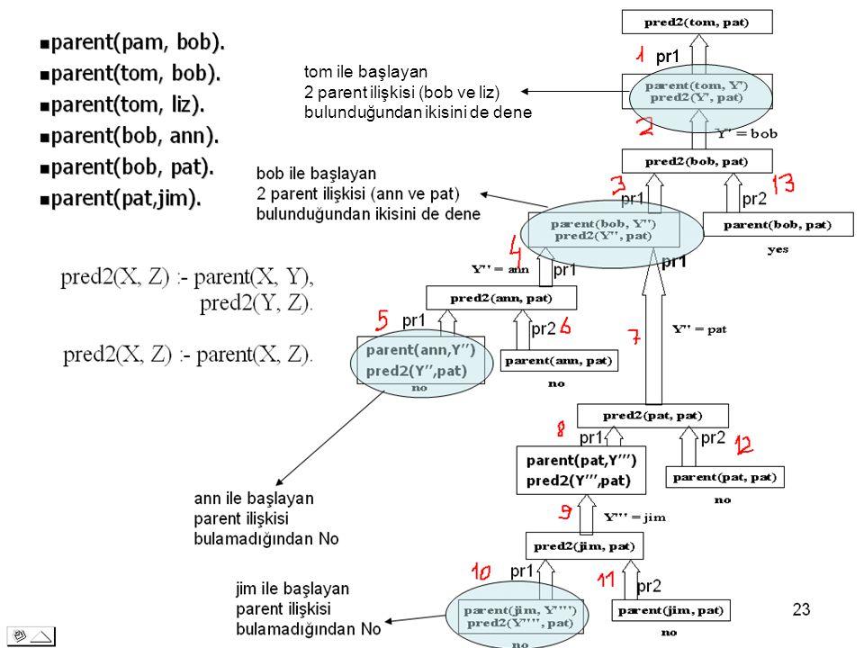 29 pr1 tom ile başlayan 2 parent ilişkisi (bob ve liz) bulunduğundan ikisini de dene