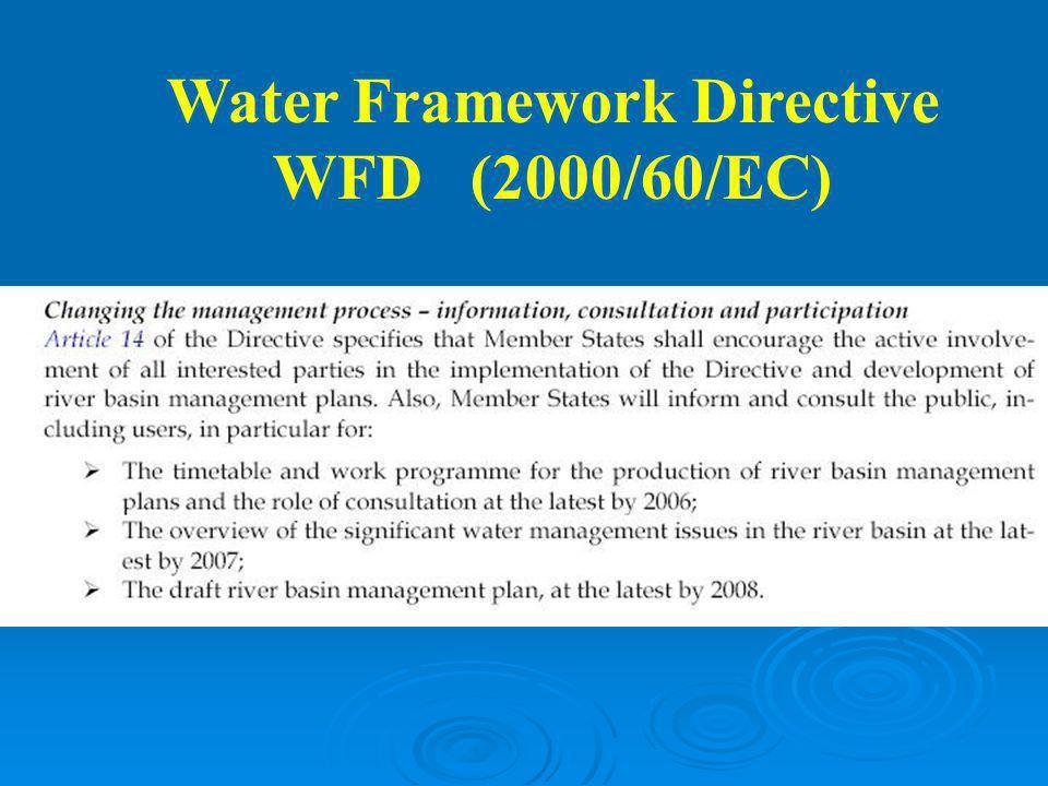 Water Framework Directive WFD (2000/60/EC)
