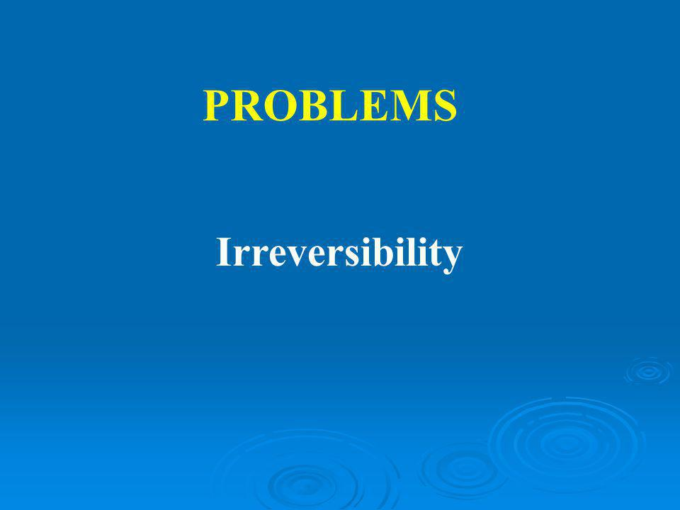 Irreversibility PROBLEMS