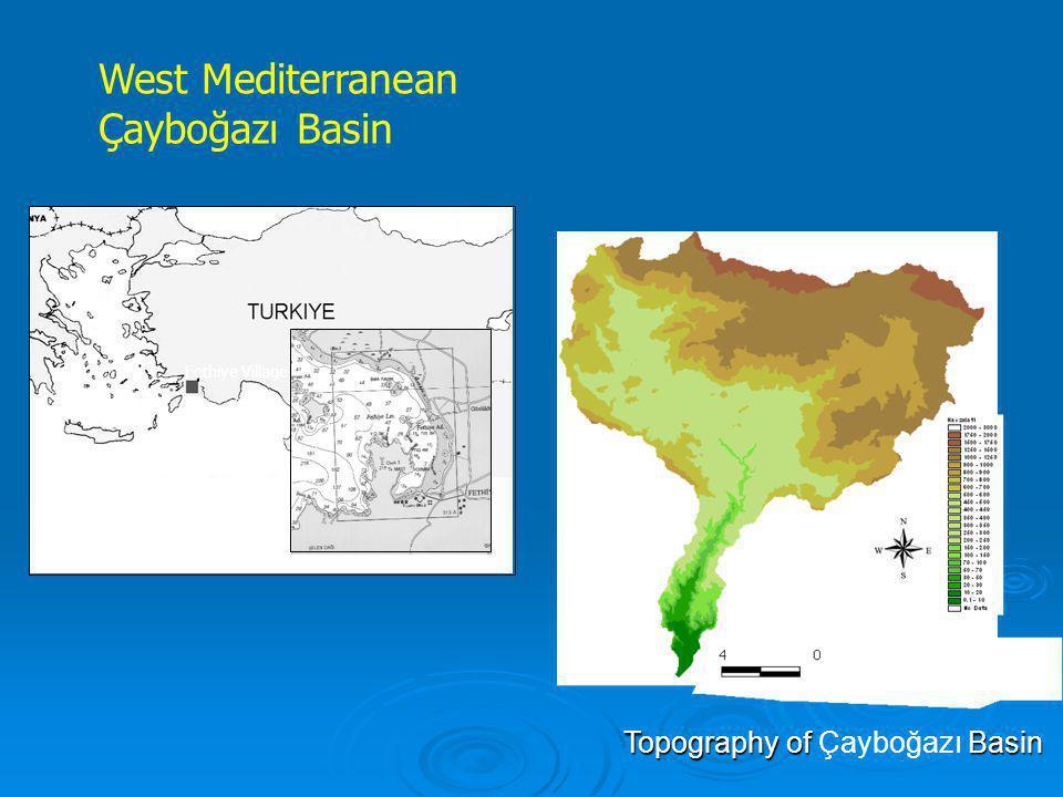 Fethiye Village West Mediterranean Çayboğazı Basin Topography of Basin Topography of Çayboğazı Basin