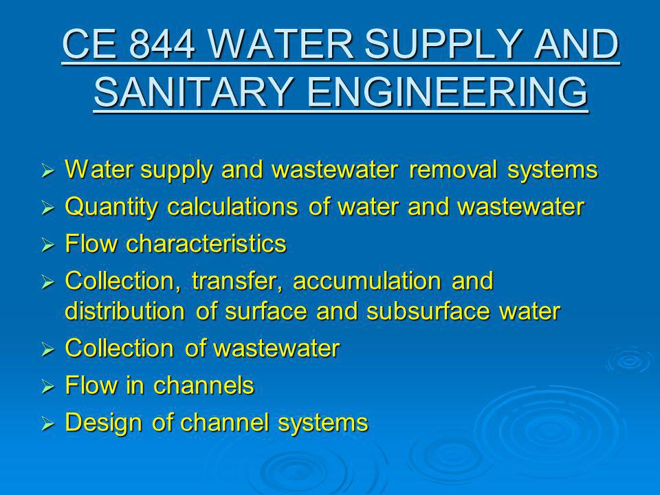 CE 037 WATER RESOURCES MANAGEMENT  Introduction to Systems Analysis  Linear and Integer Programming  Applications in Reservoir systems design and operation Reservoir systems design and operation Irrigation Planning Irrigation Planning Groundwater systems Groundwater systems Network models Network models