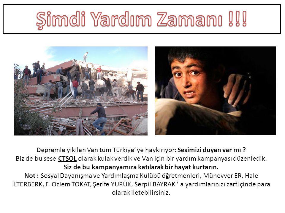 Depremle yıkılan Van tüm Türkiye' ye haykırıyor: Sesimizi duyan var mı .