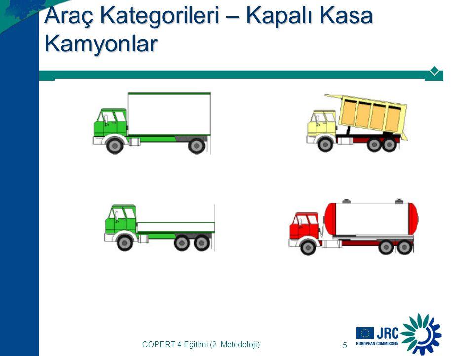 16 Egzoz kaynaklı olmayan PM Karayolu ulaşımından kaynaklanan partikül maddeler aynı zamanda aşağıda belirtilen sebeplerle meydana gelir: –Lastik aşınması –Fren aşınması –Yol yüzeyinin aşınması (COPERT 4'e eklenmedi) Emisyon oranları aşağıdakilere dayalıdır: –Araç kategorisi (otomobil, kamyon, motosiklet) –Aks/tekerlek sayısı (kamyonlarda) –Aracın taşıdığı yük –Aracın hızı COPERT 4 Eğitimi (2.