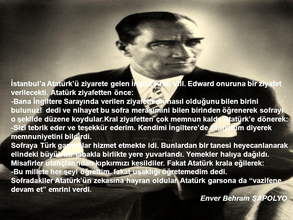 İstanbul'a Atatürk'ü ziyarete gelen İngiliz Kralı VIII.