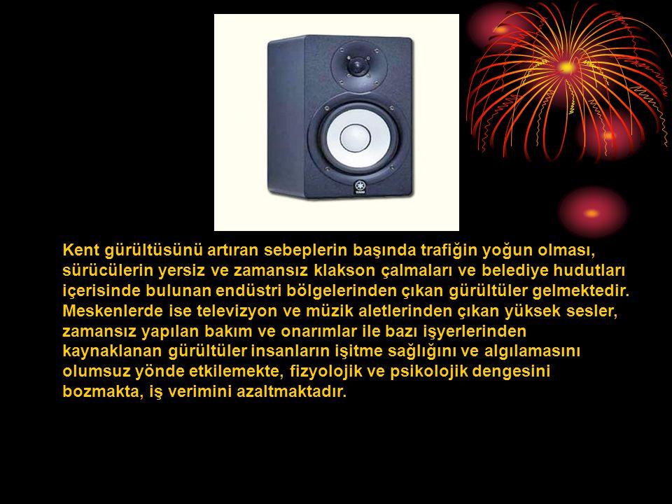 Gürültünün insan üzerindeki etkilerini 4 e ayırabiliriz: 1.Fiziksel Etkileri: Geçici veya sürekli işitme bozuklukları.