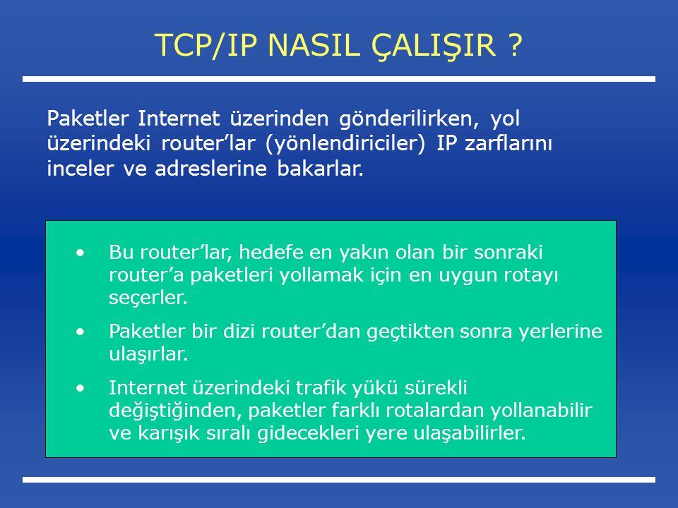 TCP/IP NASIL ÇALIŞIR .