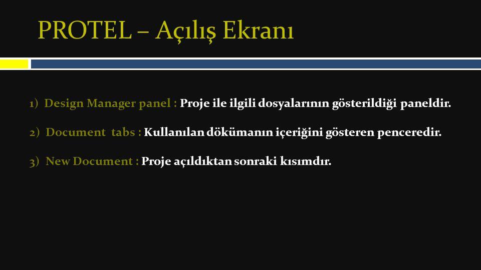 PROTEL – PCB – Yeni Eleman Oluştr Son olarak elemanın isminin girilmesini istiyor.