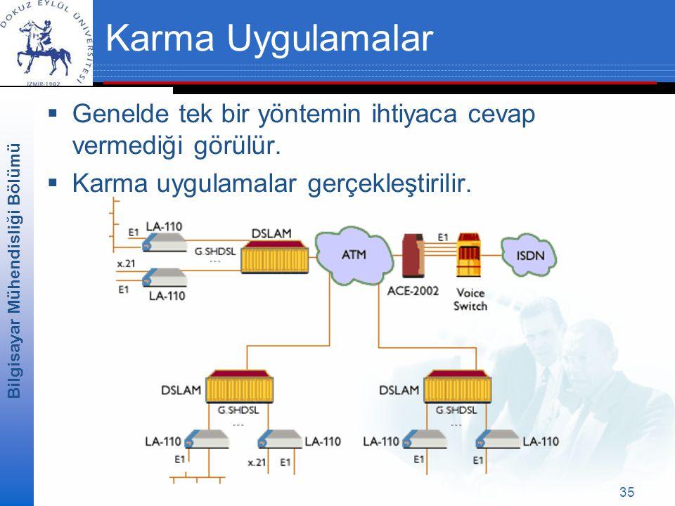 Bilgisayar Mühendisliği Bölümü 35 Karma Uygulamalar  Genelde tek bir yöntemin ihtiyaca cevap vermediği görülür.