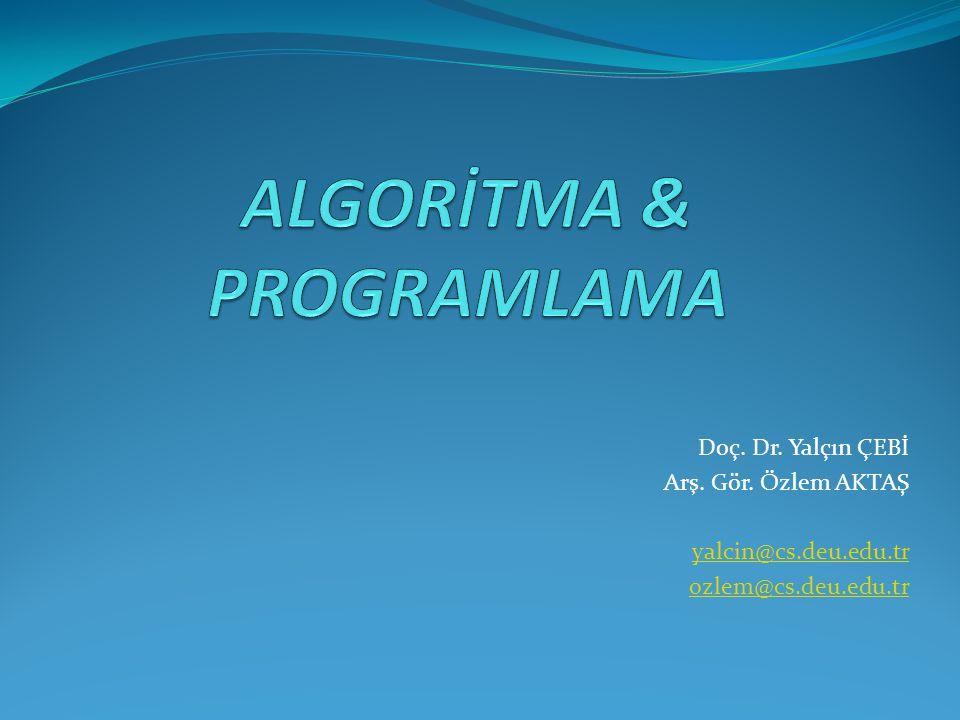 Algoritma Nedir.Problemin çözümüne ulaştıran genel yöntemlerdir.