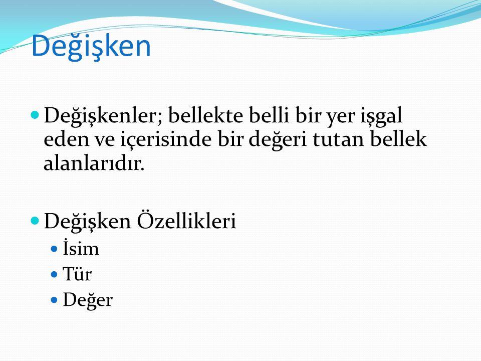 Önişlemci Komutları #include # define #include filename.h #include #define isim yerini_tutacak_veri #define Pi 3.1415