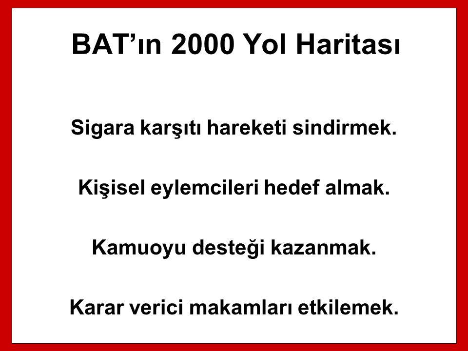 BAT'ın 2000 Yol Haritası Sigara karşıtı hareketi sindirmek.