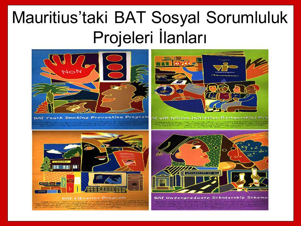 Mauritius'taki BAT Sosyal Sorumluluk Projeleri İlanları