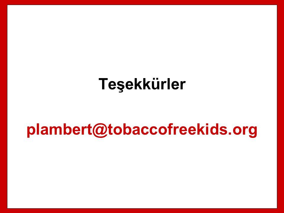 Teşekkürler plambert@tobaccofreekids.org