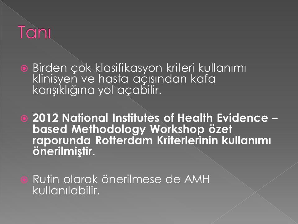  Birden çok klasifikasyon kriteri kullanımı klinisyen ve hasta açısından kafa karışıklığına yol açabilir.  2012 National Institutes of Health Eviden