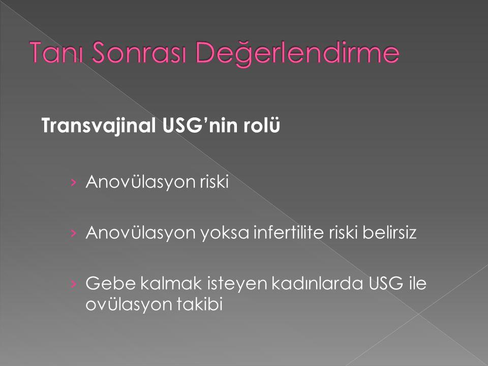 Transvajinal USG'nin rolü › Anovülasyon riski › Anovülasyon yoksa infertilite riski belirsiz › Gebe kalmak isteyen kadınlarda USG ile ovülasyon takibi