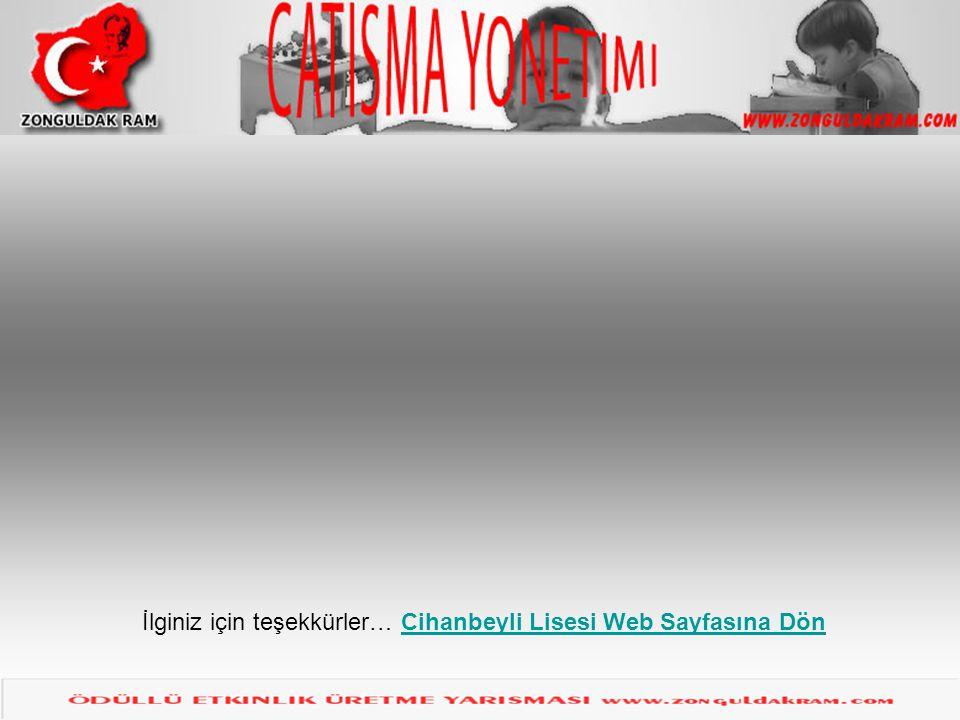 Çatışma çözme İlginiz için teşekkürler… Cihanbeyli Lisesi Web Sayfasına DönCihanbeyli Lisesi Web Sayfasına Dön