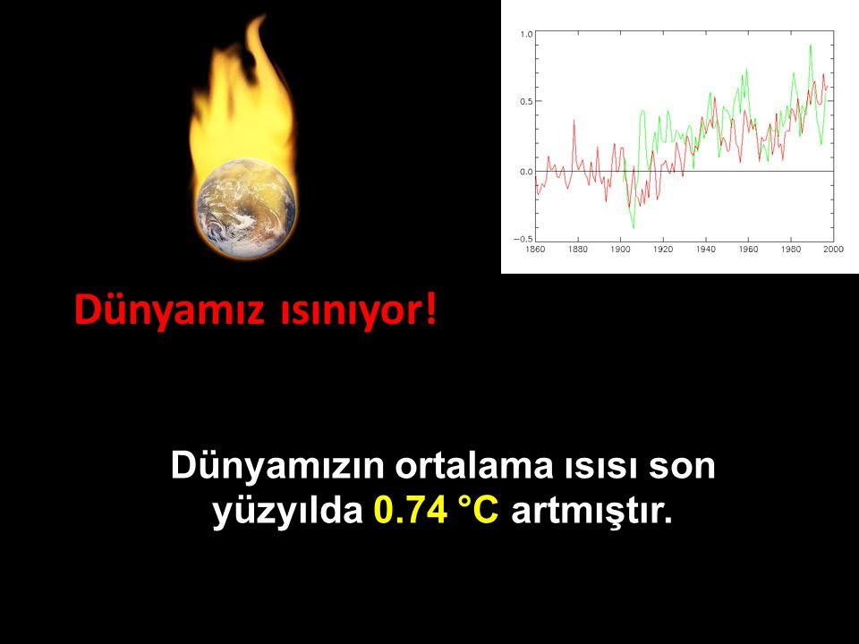 Dünyamız ısınıyor! Dünyamızın ortalama ısısı son yüzyılda 0.74 °C artmıştır.