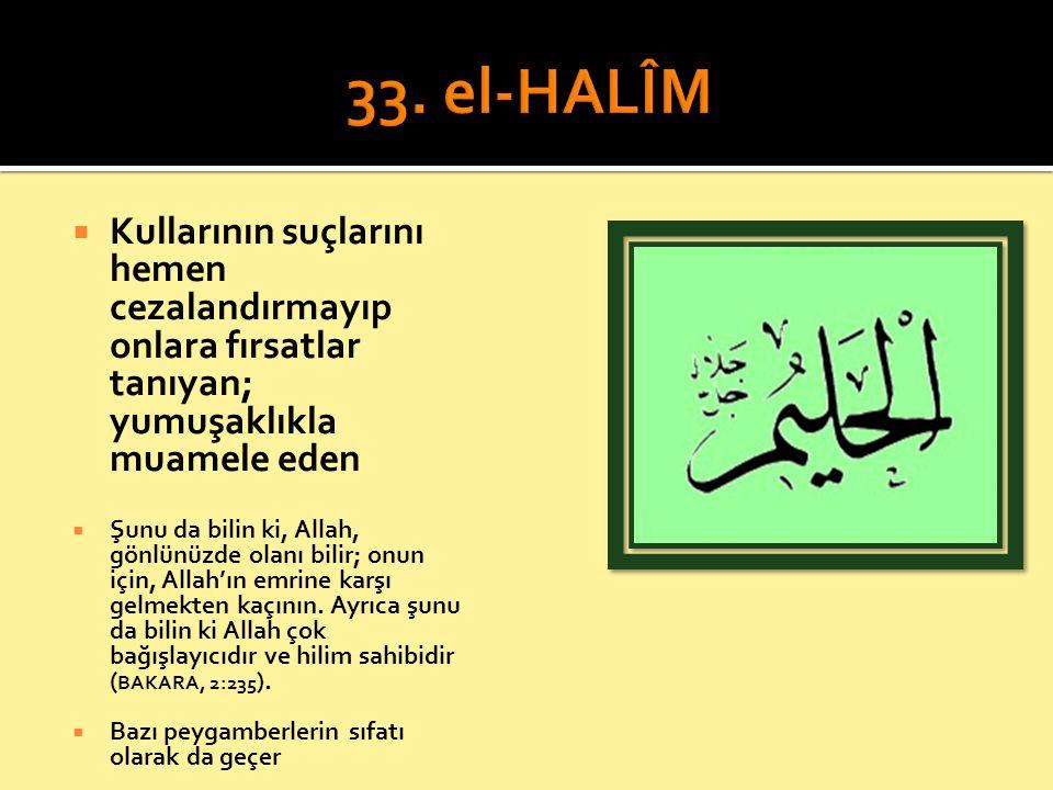  Kullarının suçlarını hemen cezalandırmayıp onlara fırsatlar tanıyan; yumuşaklıkla muamele eden  Şunu da bilin ki, Allah, gönlünüzde olanı bilir; on