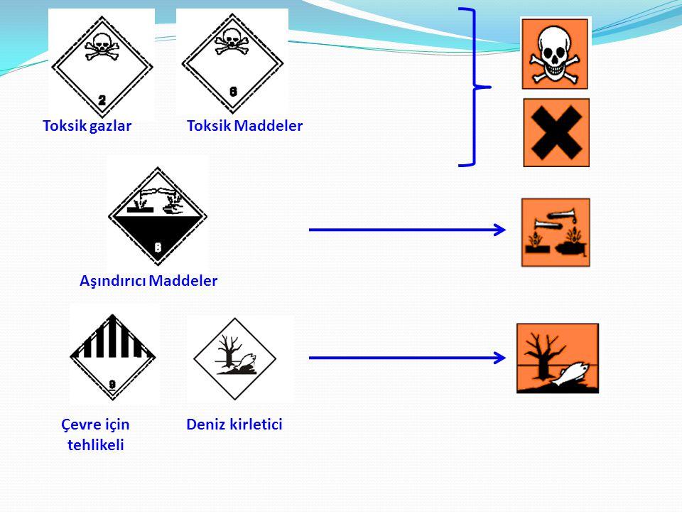 Toksik gazlarToksik Maddeler Aşındırıcı Maddeler Çevre için tehlikeli Deniz kirletici