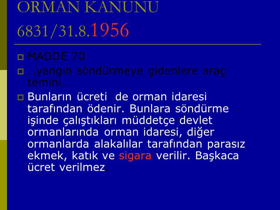 ORMAN KANUNU 6831/31.8.