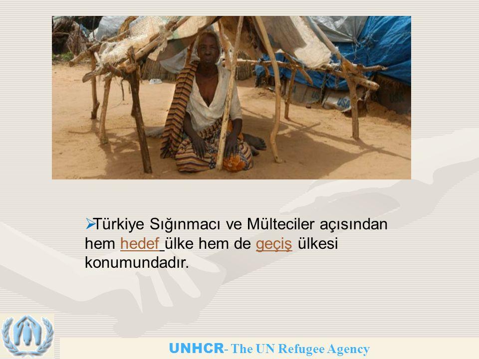 UNHCR - The UN Refugee Agency  Türkiye Sığınmacı ve Mülteciler açısından hem hedef ülke hem de geçiş ülkesi konumundadır.