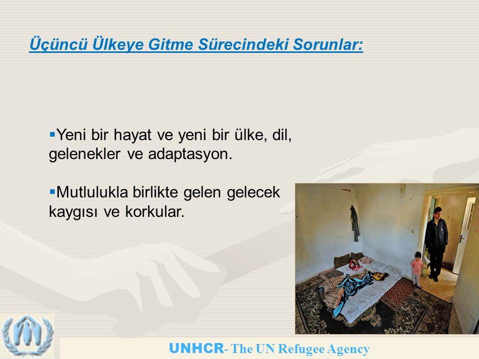 UNHCR - The UN Refugee Agency Üçüncü Ülkeye Gitme Sürecindeki Sorunlar:  Yeni bir hayat ve yeni bir ülke, dil, gelenekler ve adaptasyon.