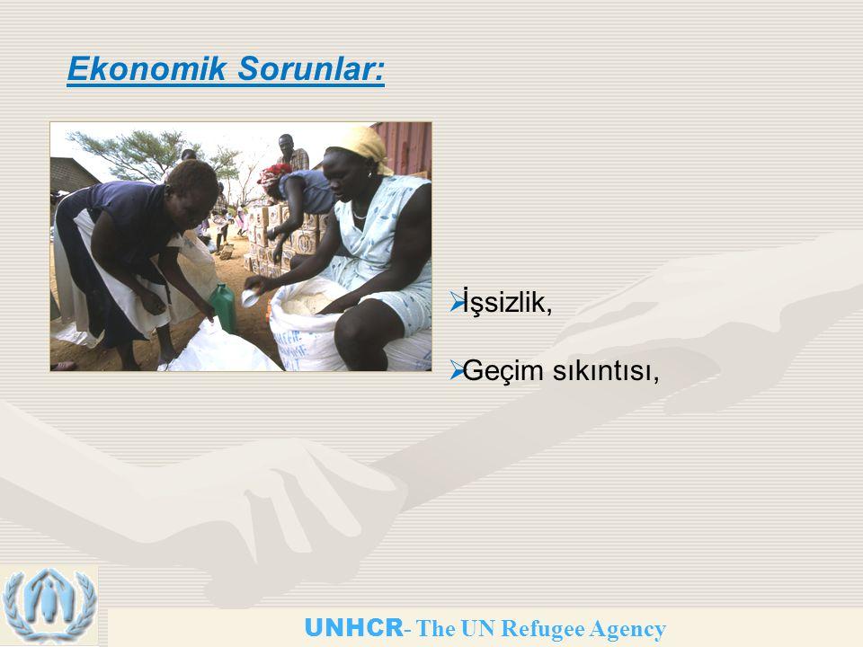 UNHCR - The UN Refugee Agency Ekonomik Sorunlar:  İşsizlik,  Geçim sıkıntısı,