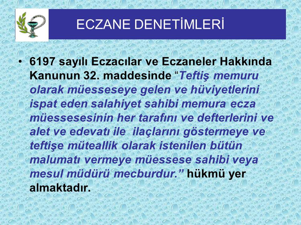 - Eczanelerde bulundurulması mecburi olan ilaç, tıbbi madde ve malzemeler Türk Eczacıları Birliği, ile Sağlık Bakanlığınca her yıl hazırlanacak olan listeyle belirlenir.