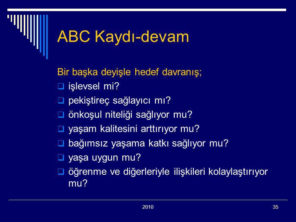 201035 ABC Kaydı-devam Bir başka deyişle hedef davranış;  işlevsel mi.