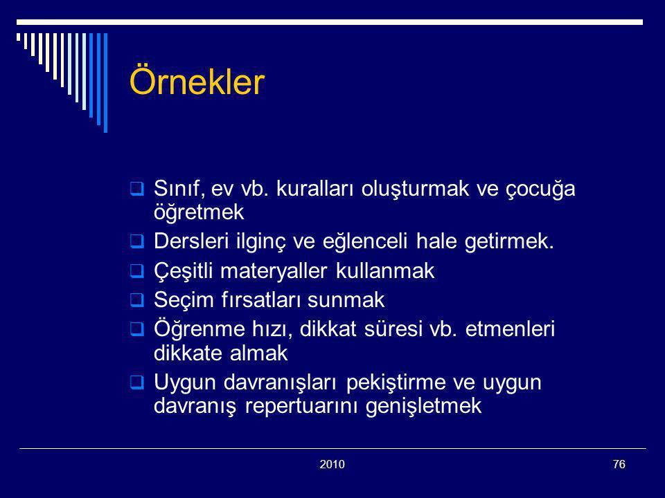 201076 Örnekler  Sınıf, ev vb.