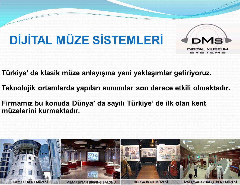 Türkiye' de klasik müze anlayışına yeni yaklaşımlar getiriyoruz. Teknolojik ortamlarda yapılan sunumlar son derece etkili olmaktadır. Firmamız bu konu