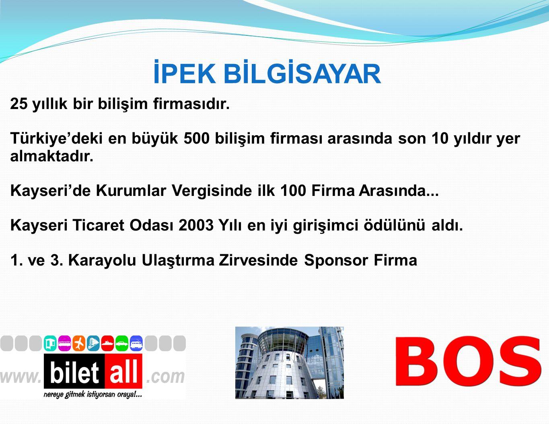 İPEK BİLGİSAYAR 25 yıllık bir bilişim firmasıdır. Türkiye'deki en büyük 500 bilişim firması arasında son 10 yıldır yer almaktadır. Kayseri'de Kurumlar