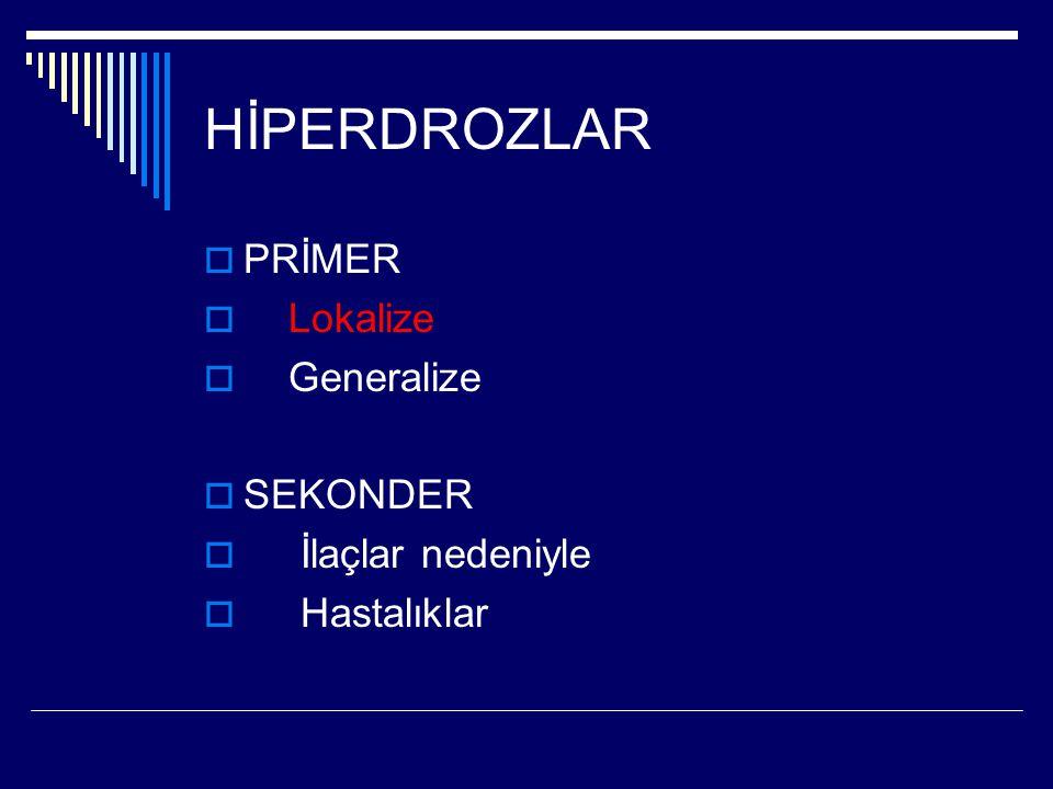 Hiperhidroz yaşam kalitesini bozan bir durumdur