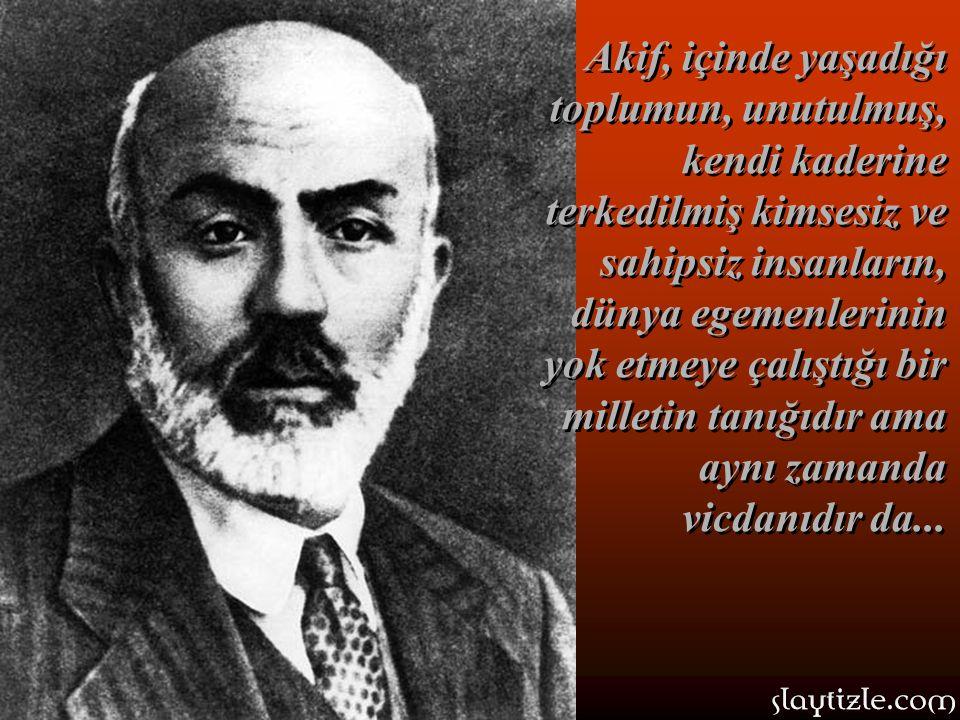 …Türkçe'nin bütün nüanslarını ve imkanlarını ustalıkla kullanan, çağının tanığı ve vicdanı olan bir şairden daha iyi kim yazabilirdi böyle bir marşı?