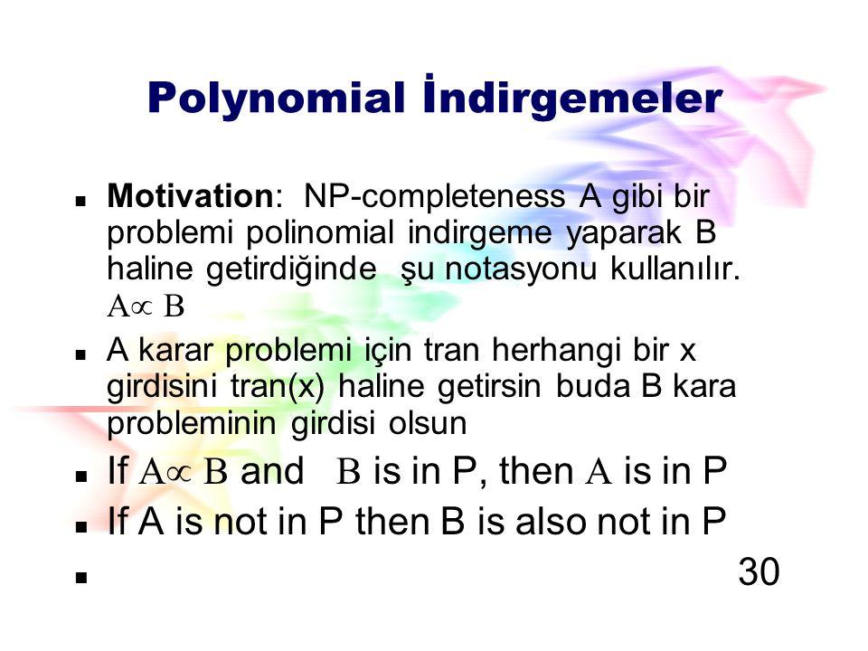 P and NP arasındaki ilişki P = NP.bilinmiyor.; P sınıfı problemler kolaylıkla çözülebilir.