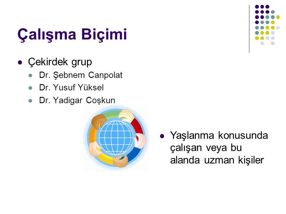 Çalışma Biçimi Çekirdek grup Dr.Şebnem Canpolat Dr.