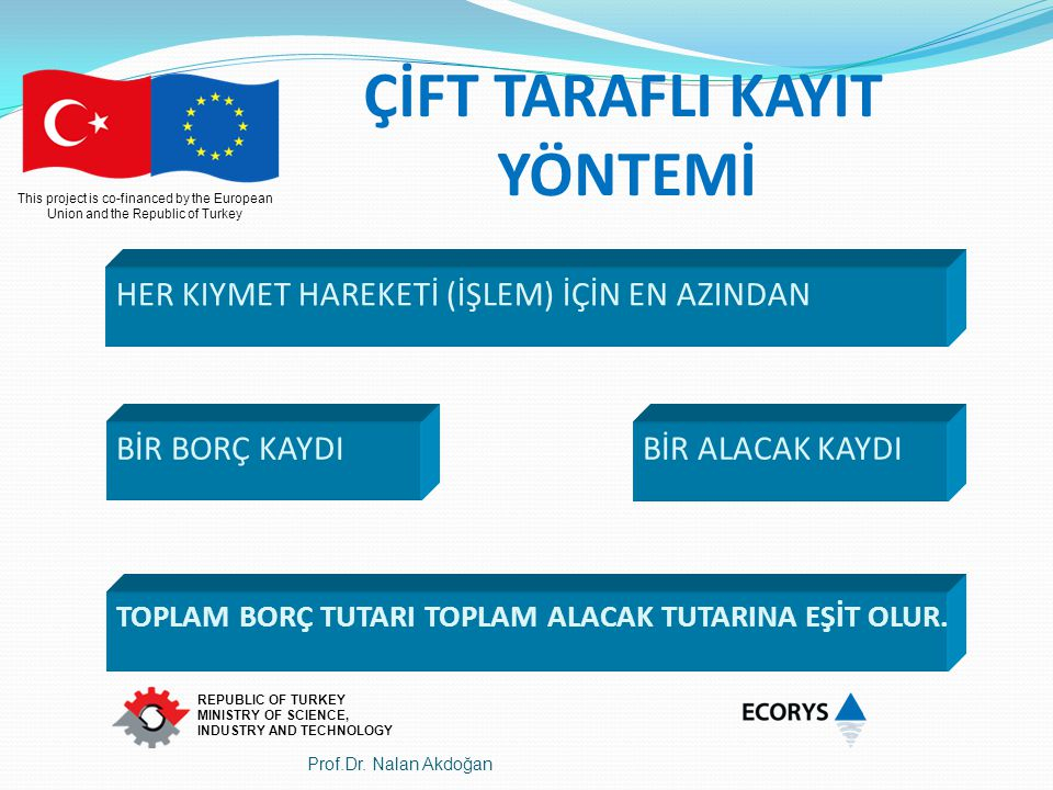 This project is co-financed by the European Union and the Republic of Turkey REPUBLIC OF TURKEY MINISTRY OF SCIENCE, INDUSTRY AND TECHNOLOGY BİR BORÇ