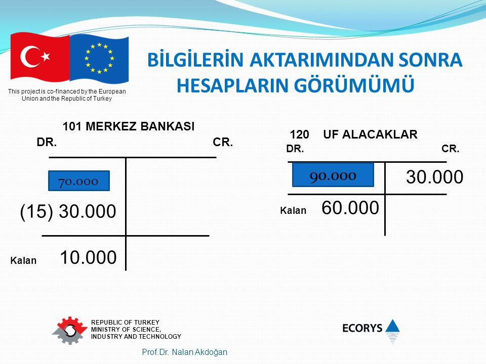 This project is co-financed by the European Union and the Republic of Turkey REPUBLIC OF TURKEY MINISTRY OF SCIENCE, INDUSTRY AND TECHNOLOGY 101 MERKE